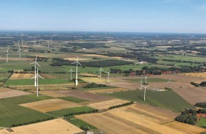 Fracking wells and Windturbines in Germany